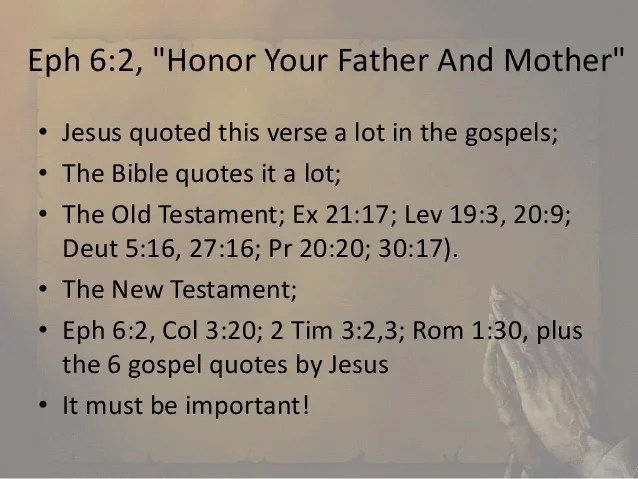 Image result for honor your mother and father
