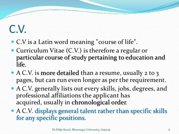 Resume definition french