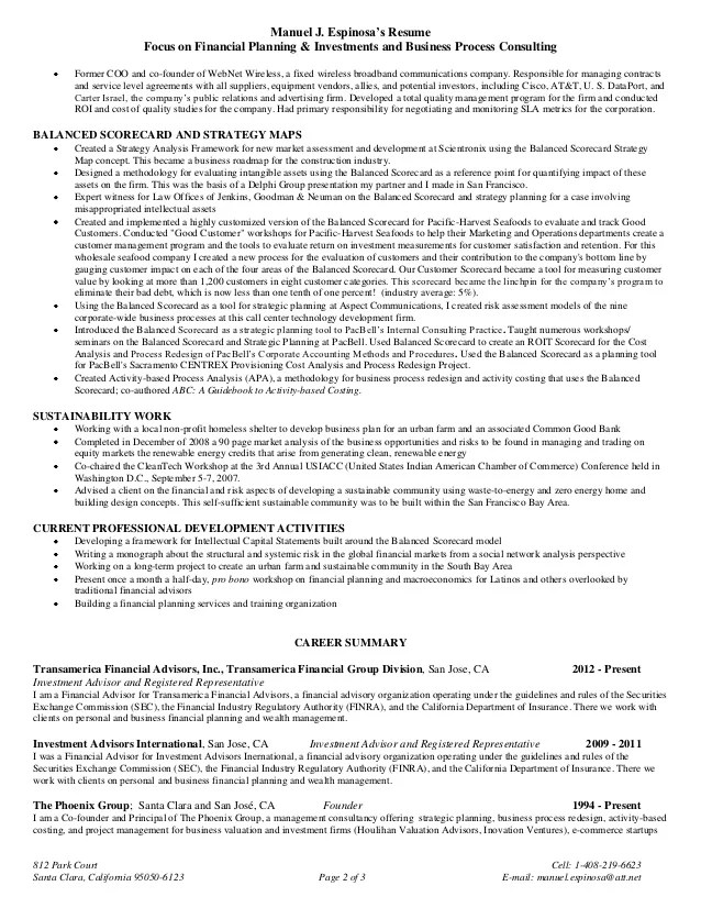 Finance Resume Examples 2012. Resume Retail Store Manager Resume