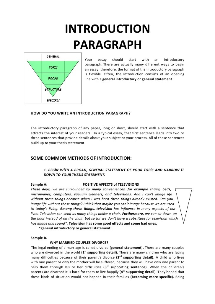 How to Write an Introduction Paragraph With Thesis Statement
