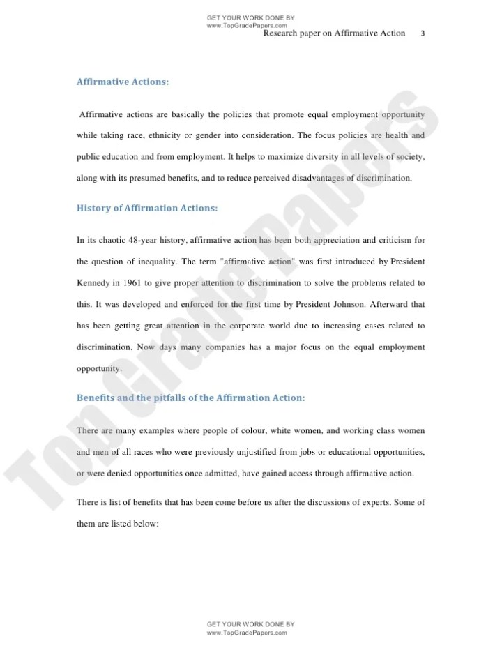 affirmative action essay introduction
