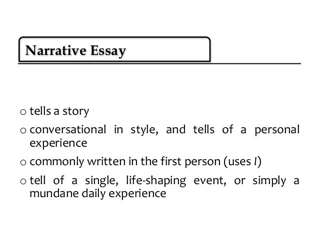 personal experience essay ideas
