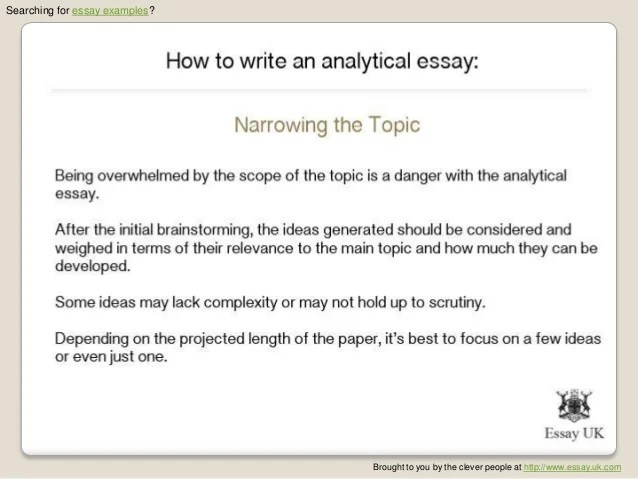 Top Essay Writing & how to write an analytical essay structure