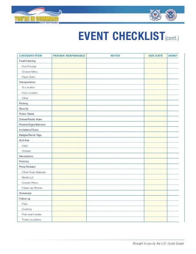 Event Security Checklist