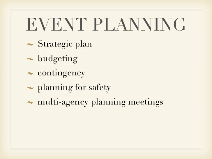 Event Security Plan Example