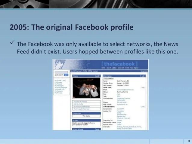 Original Facebook Profile