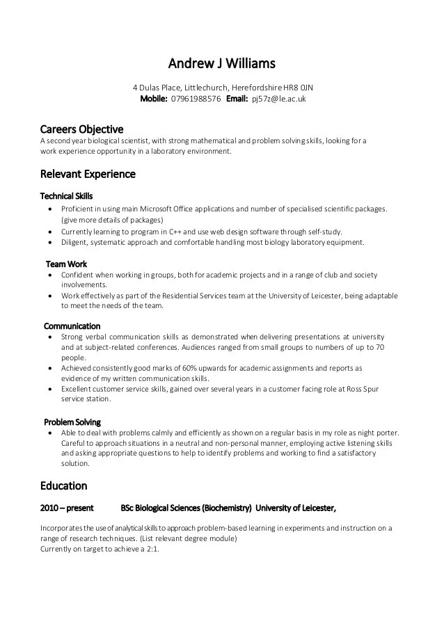Example Of Resume Skills | Resume Format Download Pdf