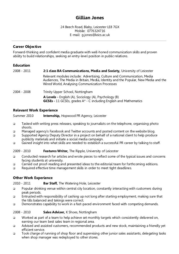 Example Of A Chronological Resume Format. German Cv Template