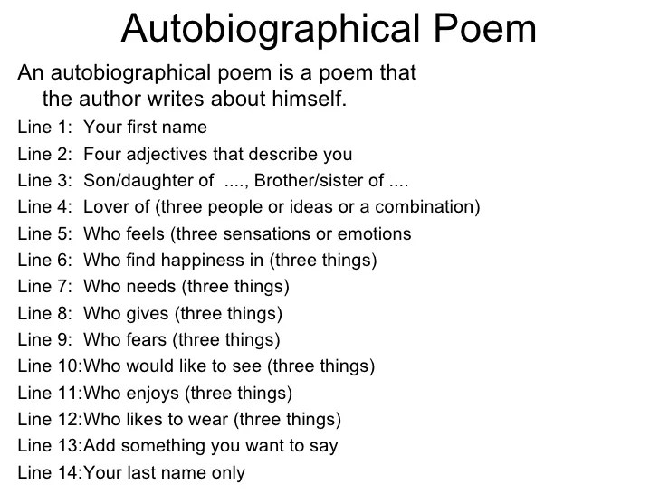 Correct way to write an autobiography?