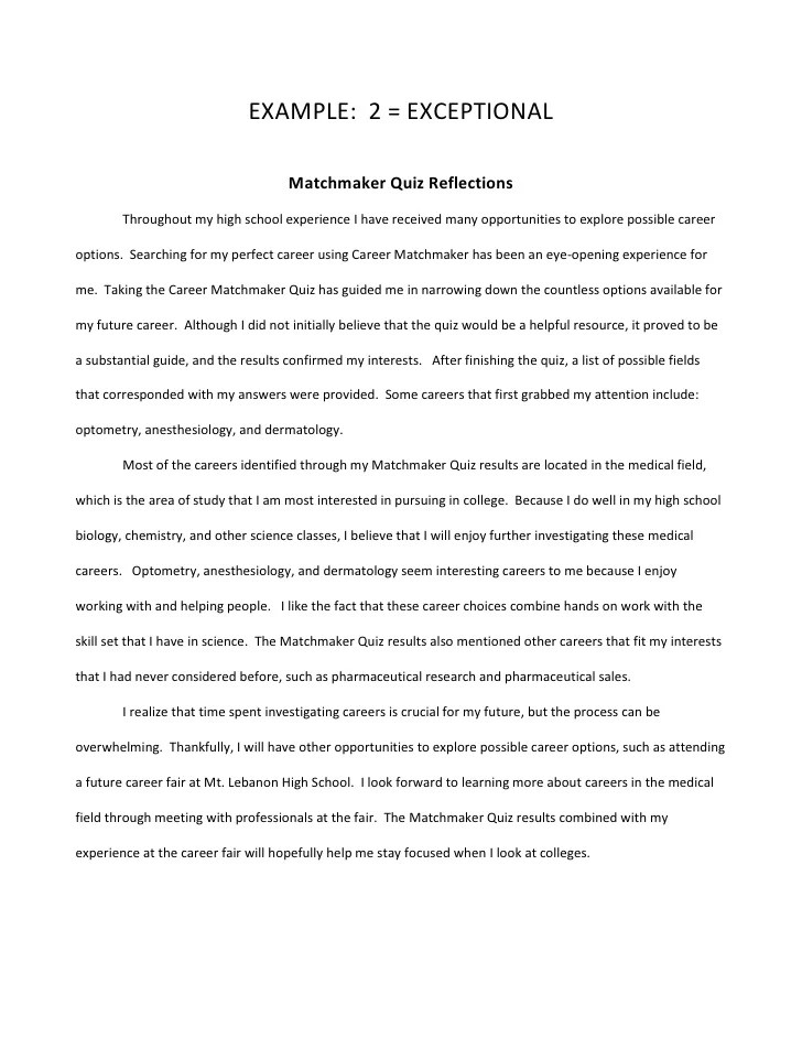 Examples of interview essays