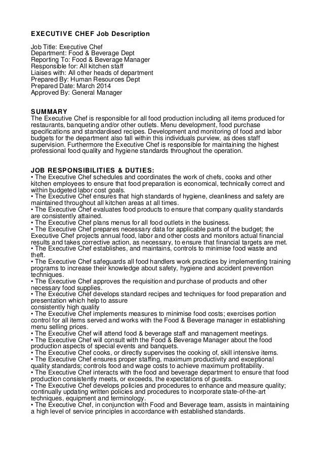 Resume Cook Job Duties. fast food cook job description walmart ...