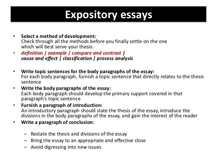 A Five Paragraph Classification Essay ...
