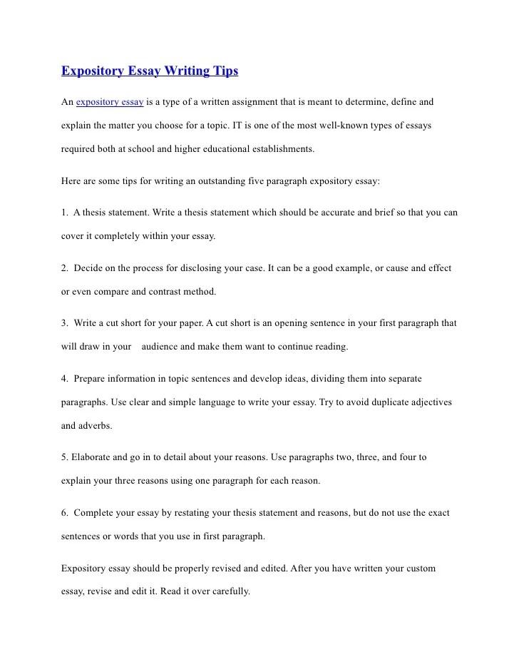 Espository essay