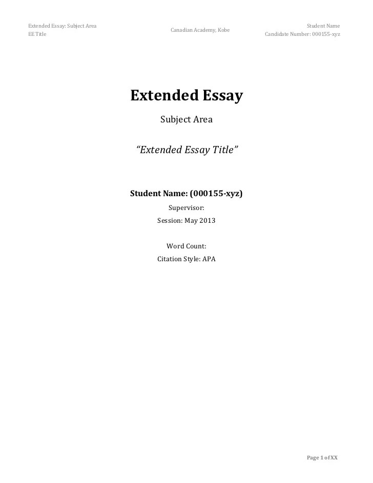 Business Management Extended Essay