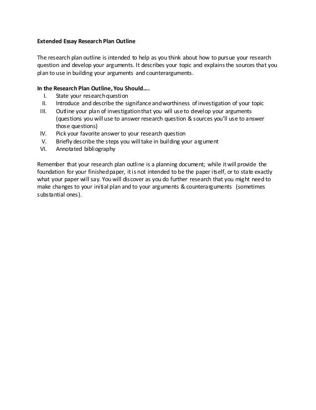 sample research prospectus