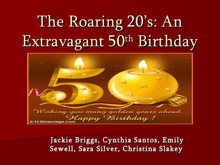 Extravagant 50th Birthday