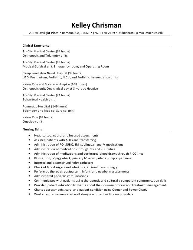 Telemetry Registered Nurse Resume. Nurse Resume Telemetry Sle