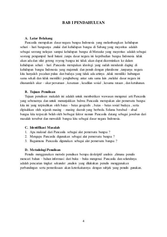 19 Makalah Pancasila Sebagai Alat Pemersatu Bangsa