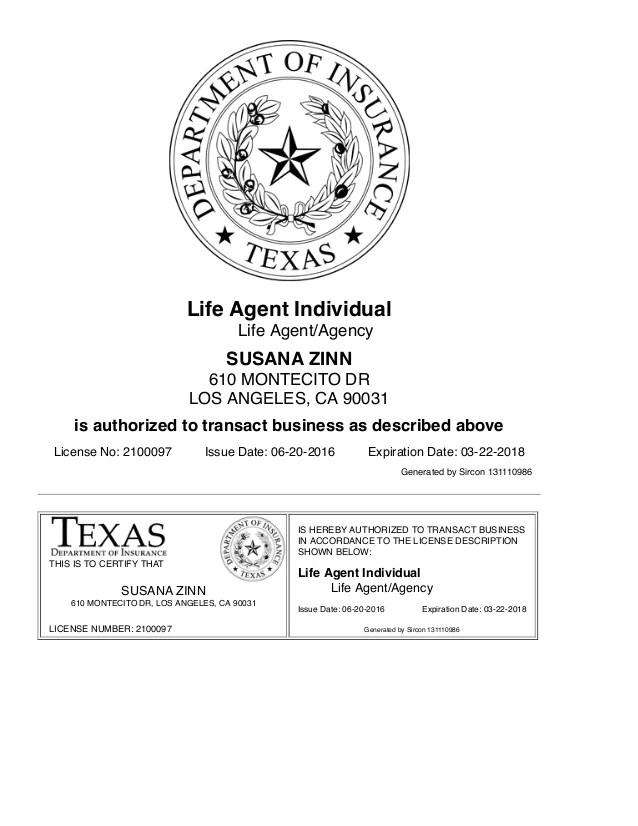 Texas Life Insurance Agent License