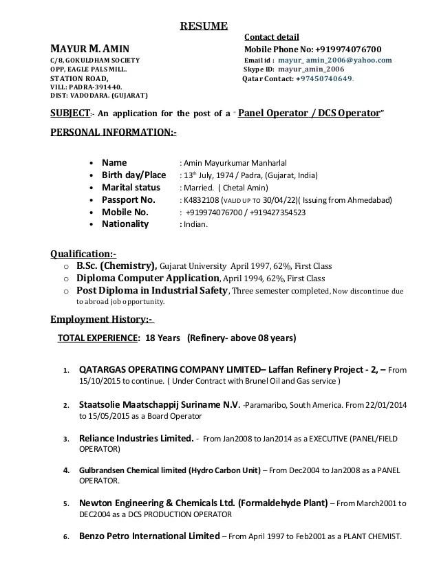 Operation Refinery Mayur Resume