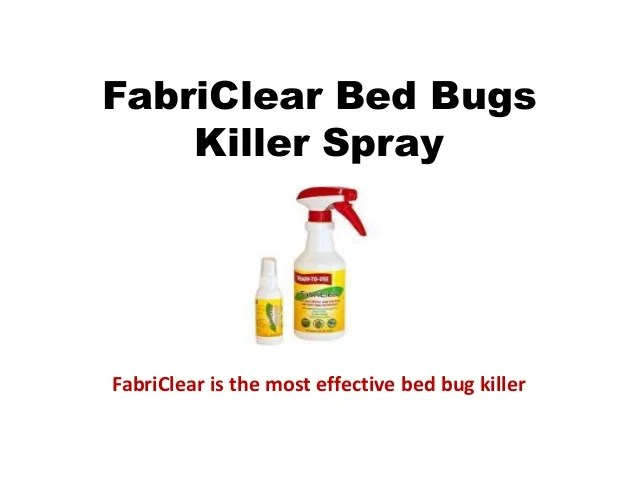 Most Effective Bed Bug Spray