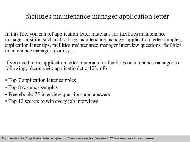 facilities maintenance manager resume facilities maintenance manager