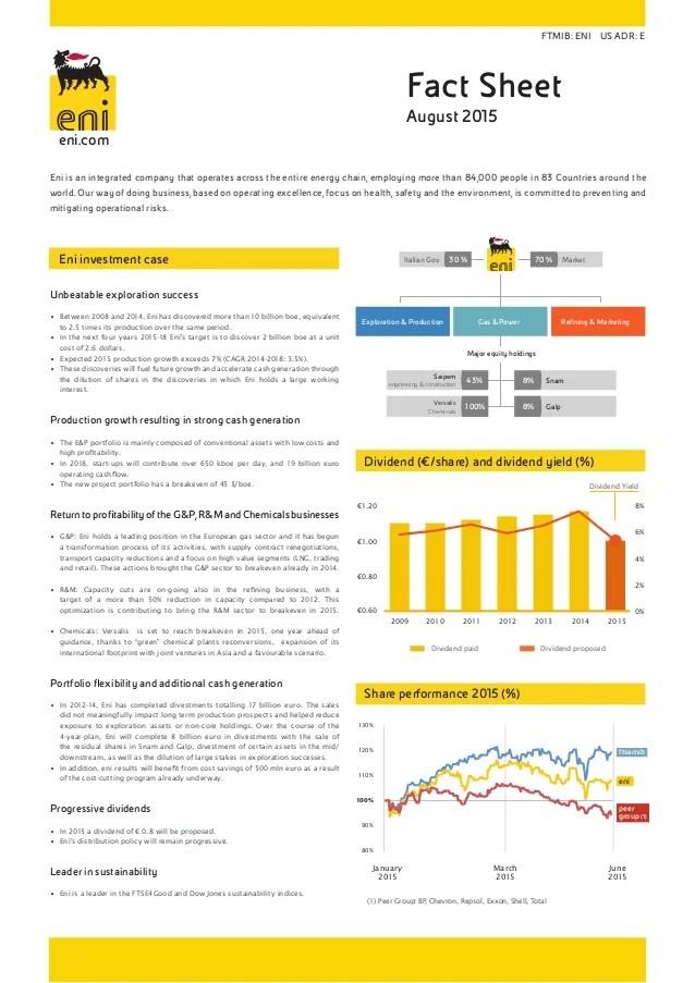 Fact Sheet Eni August 2015