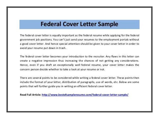 government job resume tips template free sample resume cover - Federal Job Cover Letter