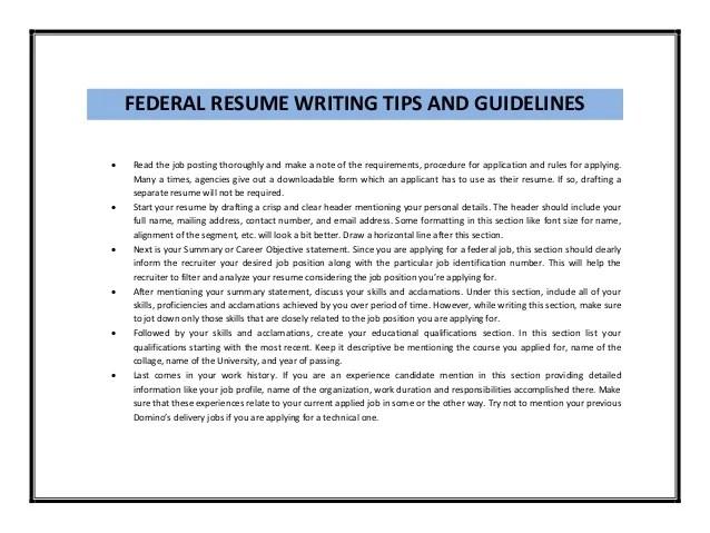 Ksa Resume Samples Federal Guide