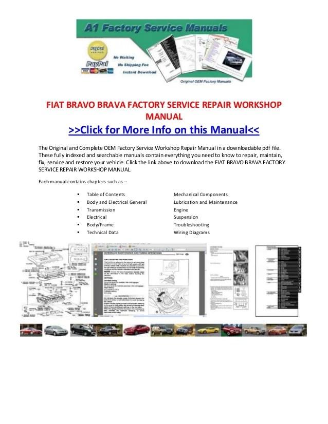 Fiat bravo brava factory service repair workshop manual