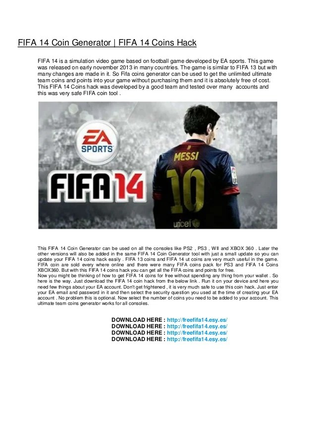 Image Result For Download Fifa Coin Generator No Survey