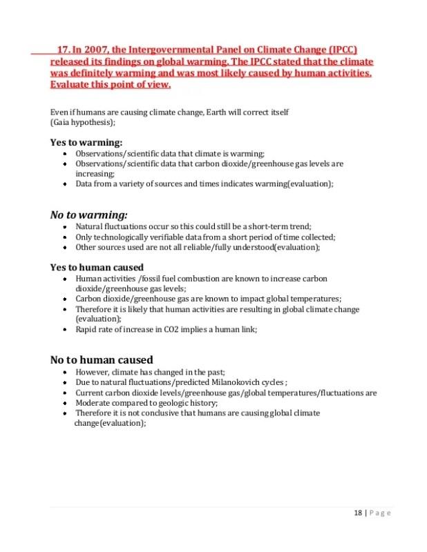 Global Warming Essay Question   Mistyhamel