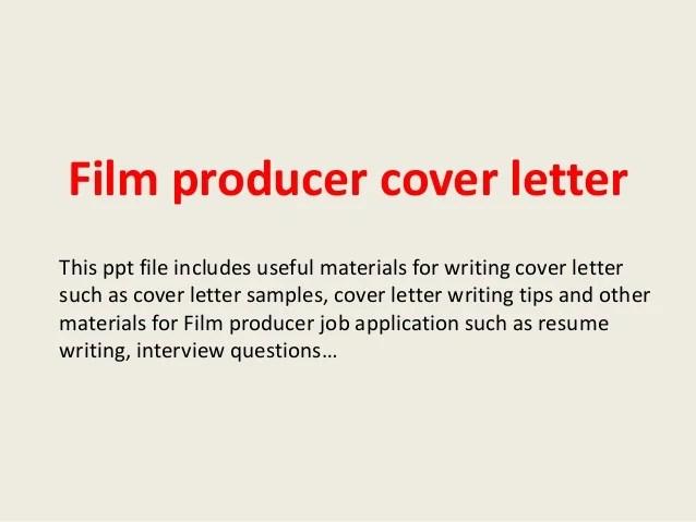 Film Producer Cover Letter