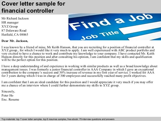 Controller Resume Cover Letter. example resume finance cpa resume ...