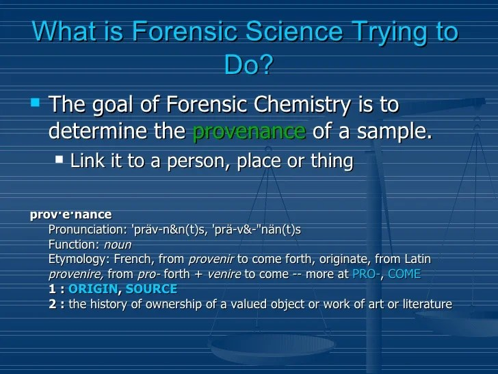 Science What Do Forensic You Do