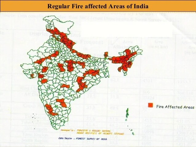 districts of india prone to forest fire के लिए चित्र परिणाम