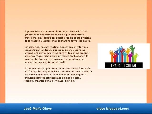 Formacin Curricular En Diseo Para Todos Trabajo Social