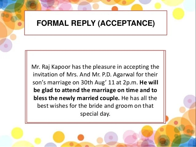 Formal invitation reply format cbse cogimbo invitation formal card style and letter stopboris Images
