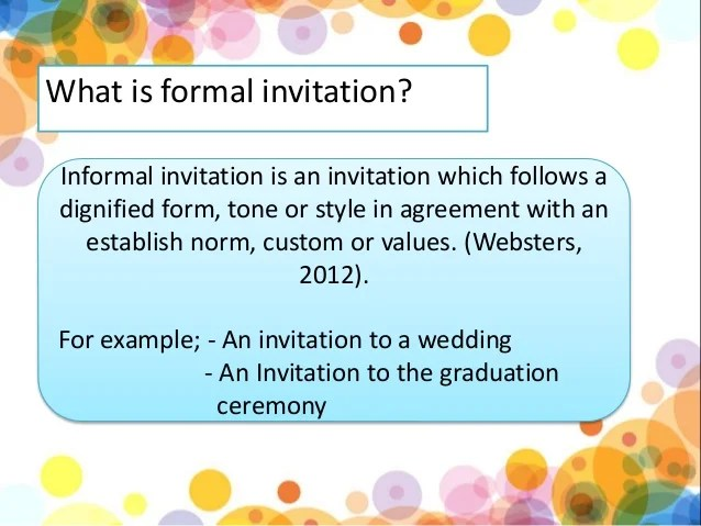 Informal Invitation 4