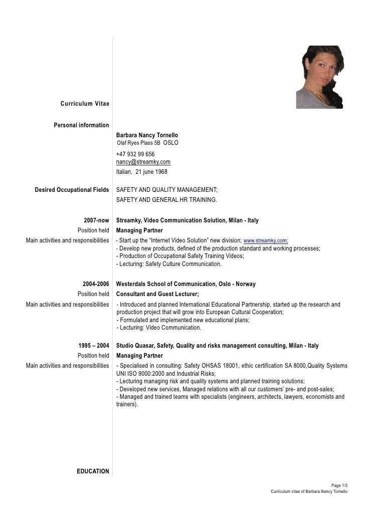 formal resume format samples template