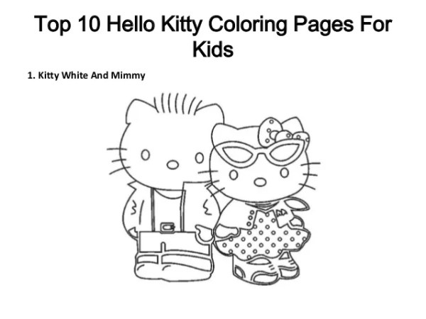free printable hello kitty coloring pages # 11