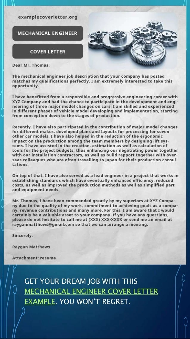 Free professional cover letter examples     ENGINEER COVER LETTER EXAMPLE  15