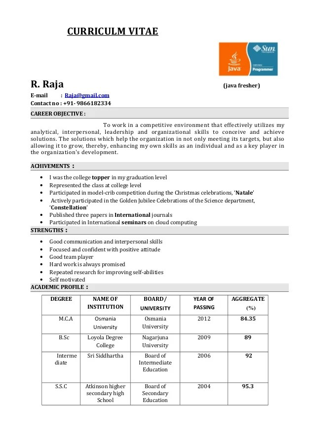 new resume format for freshers resume templates latest resume fresher resume format for mca