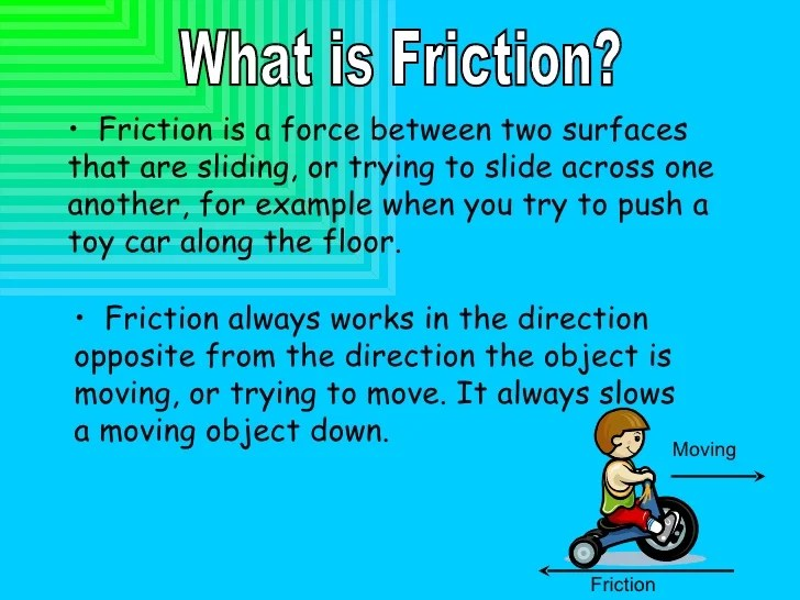 Examples Sliding Friction Everyday Life