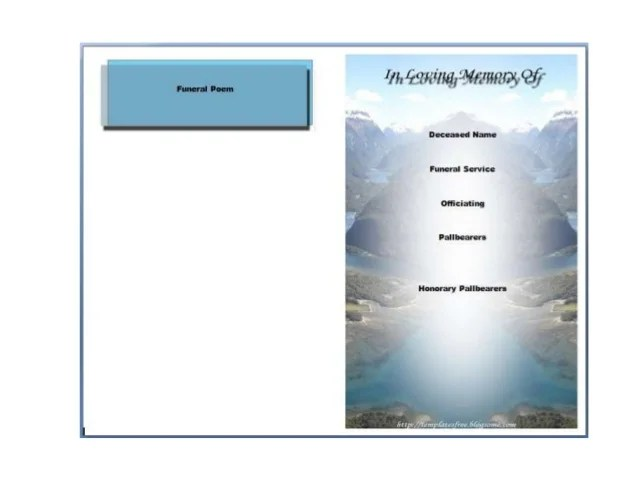 1000 Images About Printable Funeral Program Templates On. Web