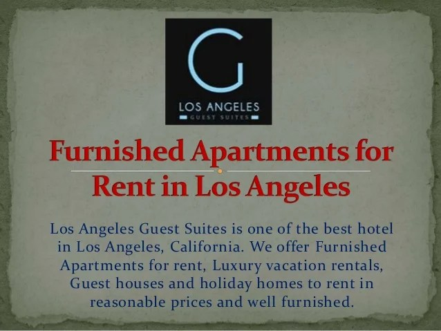 Temporary Apartment Rental Los Angeles 31 Day Short Term