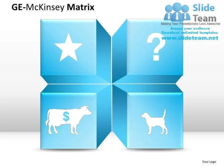 Ge Matrix Template  boston matrix and product portfolios business