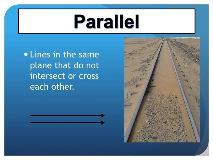 Intersecting Lines In Geometry In Real Life