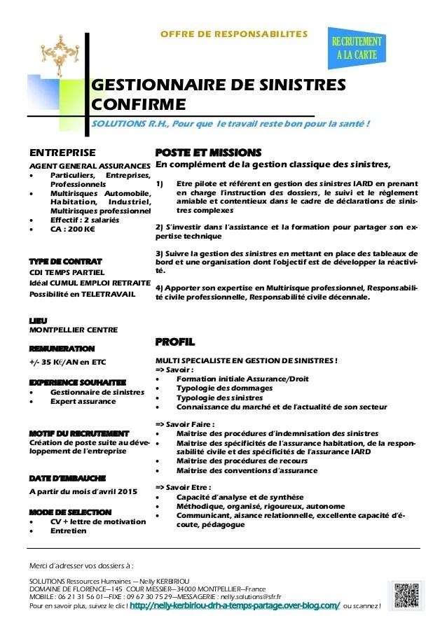 Exemple De Cv Gestionnaire De Contrats D Assurance