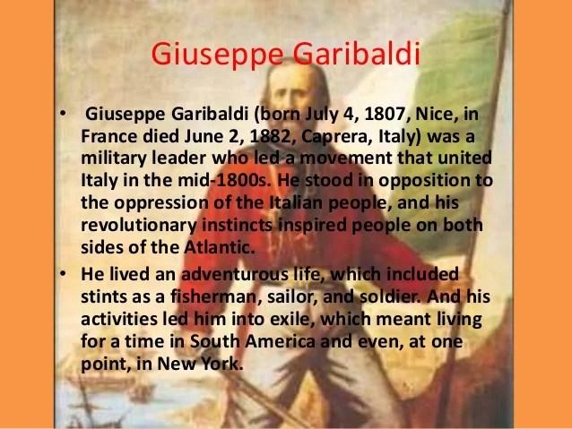 Resultado de imagen para GIUSEPPE GARIBALDI